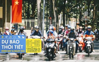 Dự báo thời tiết hôm nay và ngày mai 2/6: Hà Nội nắng nóng gay gắt, TPHCM có dông rải rác