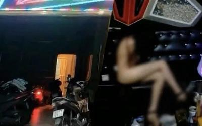 Bắt quả tang 2 nữ tiếp viên khỏa thân đang phục vụ khoảng 20 khách đang hát karaoke