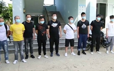Cách ly 12 cán bộ, chiến sĩ công an ở Ninh Thuận sau khi trục xuất 1 người Trung Quốc nhiễm COVID-19