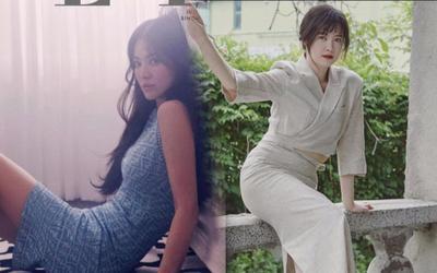 Goo Hye Sun lộ bụng mỡ, Song Hye Kyo khoe dáng 'ngon nghẻ' kỷ niệm 2 năm ly hôn Song Joong Ki