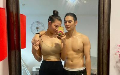 Chúng Huyền Thanh khoe giảm được 18kg sau gần 3 tháng sinh con, ông xã Jay Quân cũng không kém cạnh