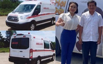 Việt Hương 'khoe' đã chi 3 tỉ mua được xe cứu thương chở người nghèo, giữ đúng lời với ông Đoàn Ngọc Hải