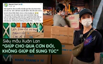 Nhiều người xin từ thiện đến ba lần, Xuân Lan lên tiếng: 'Giúp cho qua cơn đói, không giúp để sung túc'
