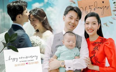 Kỉ niệm 1 năm ngày cưới Thúy Vân - Nhật Vũ: '365 ngày chỉ nhìn vào ánh mắt cũng hiểu được ý nhau'
