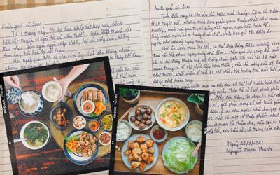 Ấm lòng hai bức thư tay của bác hàng xóm cao tuổi gửi gia đình cô gái trẻ đã giúp đỡ mình lúc ốm đau