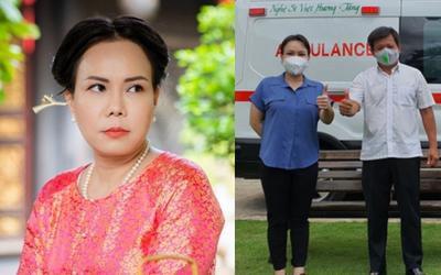 Việt Hương bị mắng xối xả là đang 'trù ẻo' vì mua xe cứu thương tặng ông Đoàn Ngọc Hải