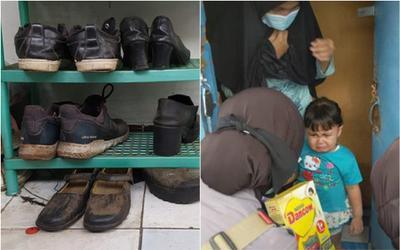 Bị tai nạn đúng mùa dịch, ông bố xin đổi giày cũ lấy sữa cho con gây xúc động