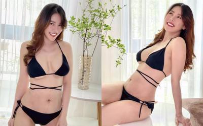 Đăng ảnh bikini 1 tháng sau sinh, Quế Vân bị netizen 'bóc mẽ' chỉnh ảnh quá đà