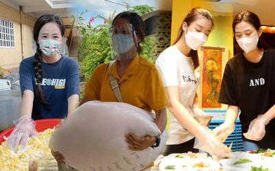 Dàn Hoa hậu Việt lăn xả đi từ thiện giữa mùa dịch, đến fan quốc tế cũng tấm tắc
