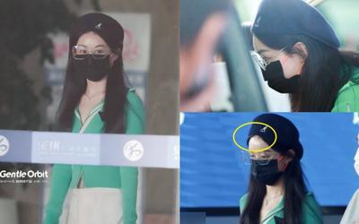 Triệu Lệ Dĩnh xuất hiện gầy guộc, kém sắc ở sân bay, cặp mắt sưng húp khiến fan lo lắng