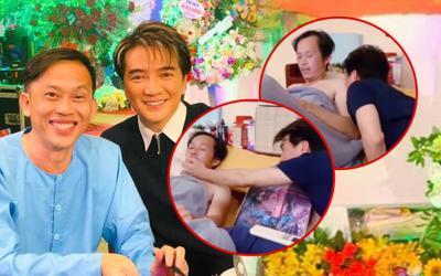 Ồn ào từ thiện chưa kịp lắng, dân mạng xôn xao trước clip Đàm Vĩnh Hưng hôn hít Hoài Linh trên giường