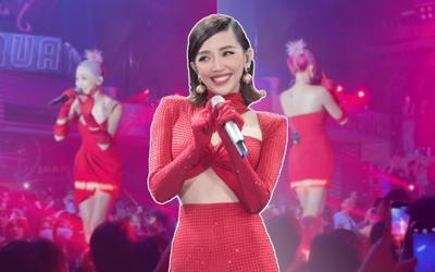 Đang hát thì gặp sự cố âm thanh, Tóc Tiên có cách giải quyết tinh tế 'đi vào lòng fans'!