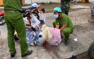 Chiến sĩ trực chốt kiểm dịch giúp thai phụ 'vượt cạn' ngay trên vỉa hè