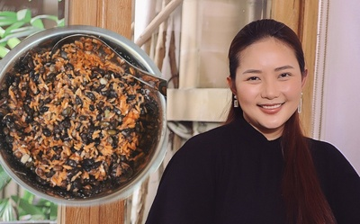 Phan Như Thảo chia sẻ cách nấu xôi đậu xanh lá cẩm dễ, nhanh lại có thể để lâu