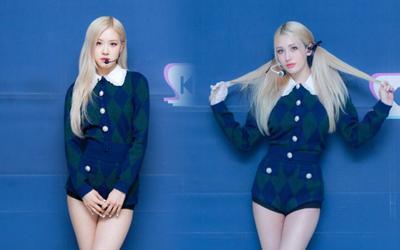 Rose (BlackPink) và Jeon Somi khi diện cùng một bộ trang phục: Netizen về team ai?