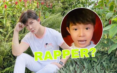 Tung clip hóa baby bắn rap không trượt phát nào, Nathan Lee tuyên bố hết dịch sẽ làm rapper?