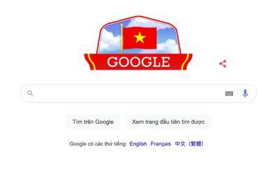 Google thay đổi giao diện chào mừng Quốc khánh Việt Nam