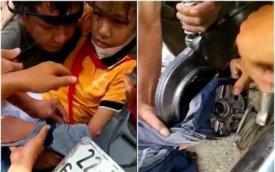 Người dân căng thẳng giải cứu bé gái bị cuốn vào bánh xe, nguyên nhân đến từ một vật dụng khá quen thuộc?