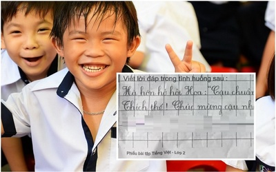 Được bạn nhiệt tình gửi lời chúc chuyến đi Vũng Tàu, cậu bé đáp gọn lỏn một từ khiến dân mạng cười ngất