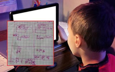 Cậu bé 8 tuổi vẽ lại tường tận cảnh 'người lớn' khiến giáo viên và phụ huynh giật mình sau khi phát hiện