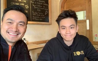Diễn viên Chi Bảo tự hào khi con trai 'làm phục vụ'