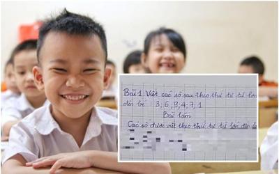 Giải bài toán với yêu cầu viết số từ lớn đến bé, học trò tiểu học đưa ra đáp án khiến dân tình...ngã ngửa