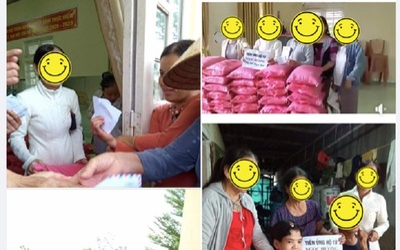 Mẹ Hà Hồ bị 'soi' chi tiết gây tranh cãi khi đi phát quà từ thiện miền Trung