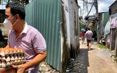 Nghệ sĩ Quyền Linh phát quà ở xóm ve chai, xúc động khi người dân hỏi tiền cứu trợ