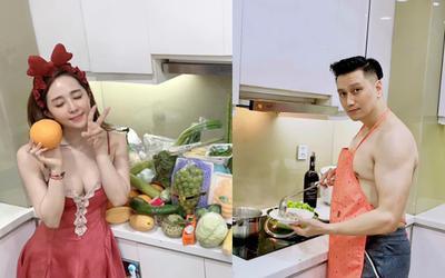 Hết bị soi 'chỗ hiểm' khi cởi trần vào bếp, Việt Anh còn lộ chi tiết sống chung nhà cùng 'tình tin đồn'?