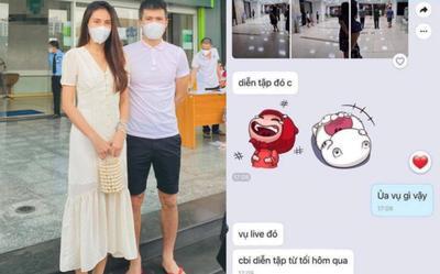 Thủy Tiên nói rõ về loạt ảnh tiết lộ việc vợ chồng cô tập dợt cho buổi livestream sao kê