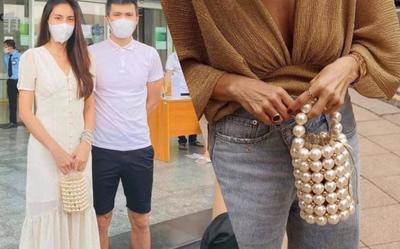Chiếc túi ngọc trai Thủy Tiên xách đi sao kê đang khiến dân tình 'phát sốt phát rét'