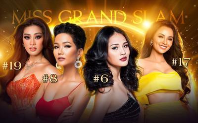 Hương Giang, H'Hen Niê, Khánh Vân, Diễm Hương: Tượng đài của nhan sắc Việt tại Miss Grand Slam