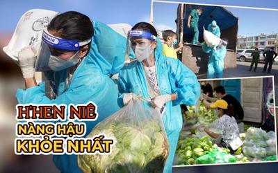 Đi tình nguyện tự tay khiêng 50kg gạo, H'Hen Niê quả là nàng Hậu khỏe nhất Vbiz