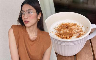 Tăng Thanh Hà làm ly latte nhâm nhi thơm ngon đúng điệu