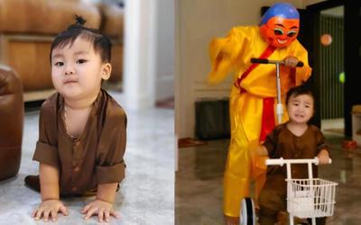 Biểu cảm của con trai Hòa Minzy khi gặp nhân vật này trong đêm Trung thu 'đốn tim' dân mạng