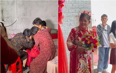 Clip: Cô dâu đến đón rể, nhà trai ôm con khóc sướt mướt không nỡ rời xa