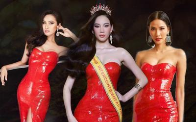 Ái Nhi khoe triệt để body với váy đỏ rực, đụng độ khốc liệt với đàn chị Hoàng Thùy và Hoài Sa