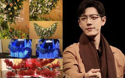 Tiêu Chiến leo top 1 hotsearch với loạt tường hoa siêu rực rỡ do các nhãn hàng gửi tặng
