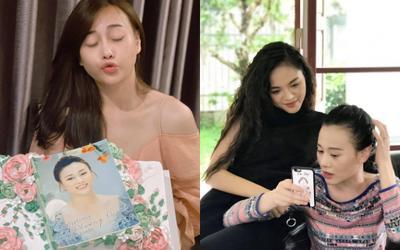 Phương Oanh đón tuổi mới bên gia đình 'Hương vị tình thân', tình thương mến thương với Thu Quỳnh
