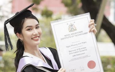 Á hậu sở hữu học vấn đáng nể Vbiz: Vừa tốt nghiệp Thủ khoa lại tiếp tục nhận học bổng Thạc sĩ