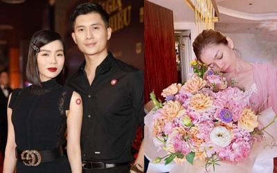 Lệ Quyên rạng rỡ nhan sắc khi nhận hoa kỷ niệm yêu đương cùng Lâm Bảo Châu