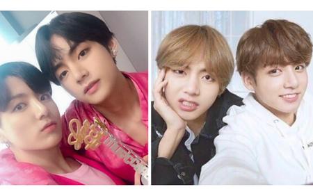 20 khoảnh khắc selfie đôi cực cute của V và Jungkook