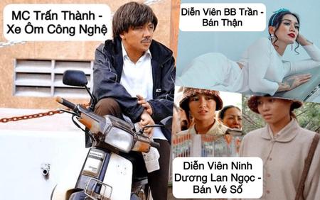 BB Trần tìm việc cho sao Vbiz mùa COVID - 19: Trấn Thành chạy xe ôm - Nam Thư khóc mướn - Huỳnh Lập coi bói dạo