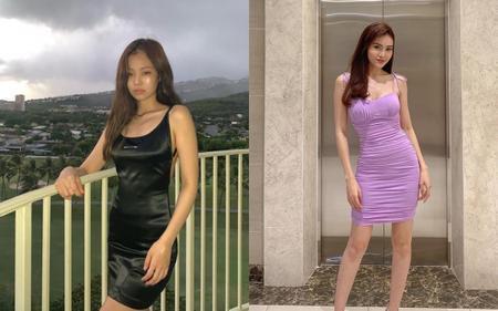 Jennie Black Pink, Ninh Dương Lan Ngọc nghiện nặng mini dress siêu ngắn siêu tôn dáng