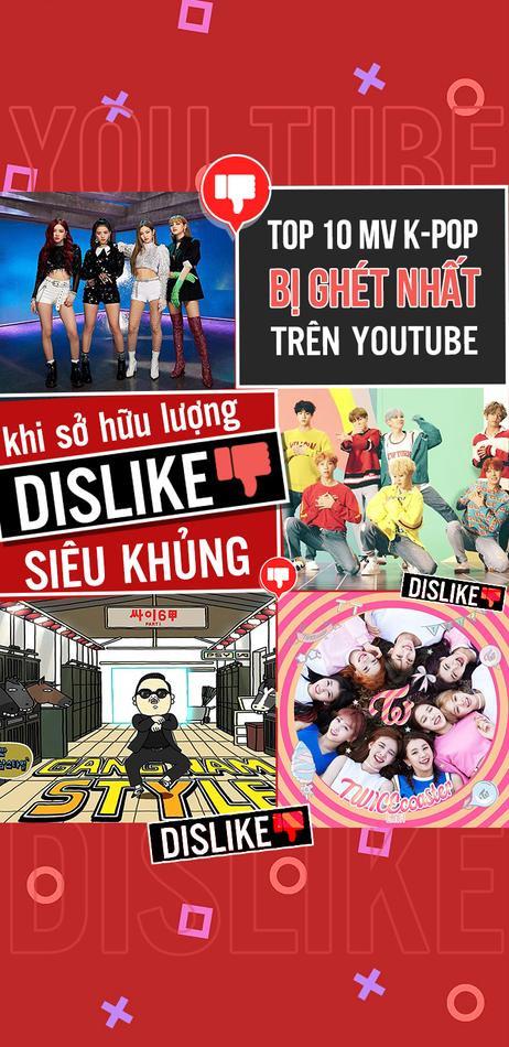 Top 10 MV K-Pop bị ghét nhất Youtube khi sở hữu lượng dislike siêu khủng