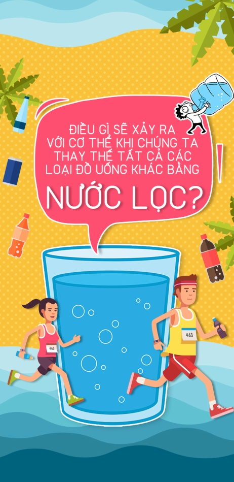 Điều gì sẽ xảy ra khi chúng ta thay thế tất cả các loại đồ uống khác bằng nước lọc?