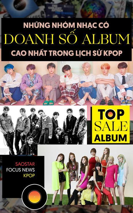 Những nhóm nhạc có doanh số album cao nhất trong lịch sử Kpop