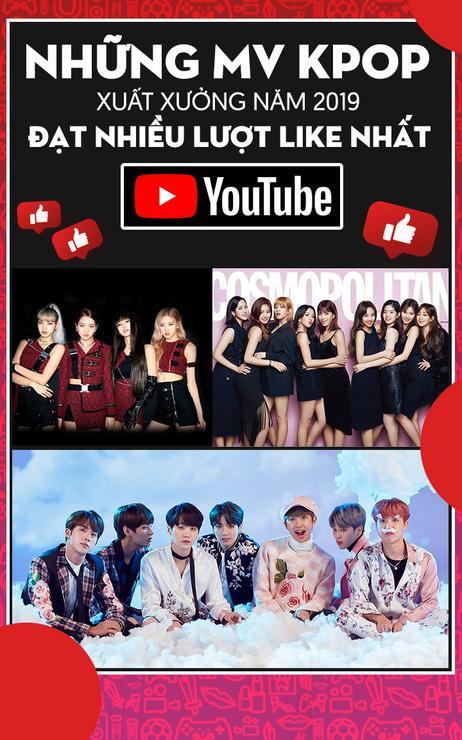 Những MV Kpop xuất xưởng năm 2019 đạt nhiều lượt like nhất Youtube