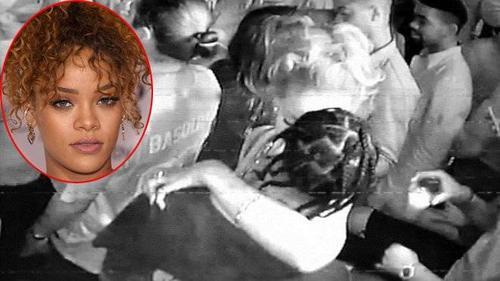 Rihanna lộ ảnh âu yếm bồ trẻ trong hộp đêm