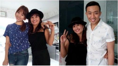 'Ngôi sao vi diệu' Lê Thị Dần khoe ảnh Hari Won ở nhà Trấn Thành
